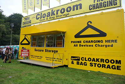 Event cloakrooms